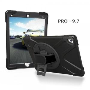 """Kaitseümbris koos käerihma ja lauatoega, iPad 9,7"""" 5th 6th Gen tahvelarvutile, musta värvi, uus"""