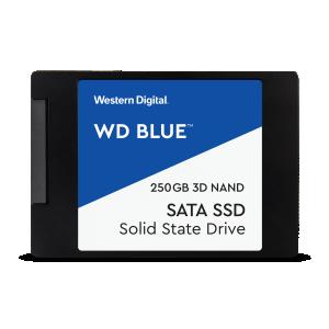 SSD SATA 250GB Western Digital Blue, lugemine 550 MB/s, kirjutamine 525 MB/s, uus, garantii 3 aastat