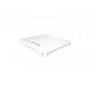 DVD-RW väline Transcend TS8XDVDS-W, 8xDVD; 24xCD-R; USB 2.0, valge / must, uus, garantii 2 aastat