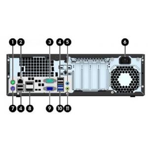 HP EliteDesk 800 G1 SFF i5-4570@max 3,6GHz (6MB cache)/8GB RAM/120GB uus SSD (gar 3a)/DVD-RW/2 x DisplayPort/VGA-väljund/Windows 10 Professional, kasutatud, garantii 1 aasta