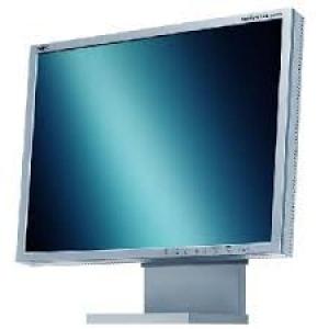 """21"""" LCD-monitor NEC MultiSync 2080UX, pildisuhe 4:3, resolutsioon 1600x1200, VGA- & 2 x DVI-sisendid, musta värvi jalg, kasutatud, garantii 1 aasta"""