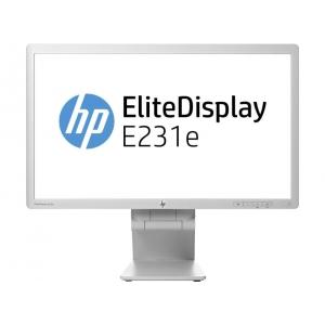 """23"""" Wide LED HP EliteDisplay E231e, valget värvi, IPS-paneeliga, VGA & DVI-sisend, Display-port, PIVOT, resolutsioon 1920x1080, 5 ms, reguleeritava kõrgusega jalg, USB-hub, kasutatud, garantii 1 aasta / Soodushind!"""