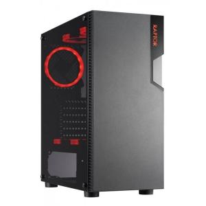 Mänguarvuti Raptor F-35 Intel Core i5-4570S/8GB DDR3/240GB uus SSD (gar 3a) & 500GB HDD/Uus graafikakaart NVIDIA GeForce GTX 1650 4GB 128bit (gar 3a)/HDMI-, VGA- & DVI-väljundid/uus 600W toiteplokk/Windows 10 Pro, kasutatud, Garantii 1 aasta