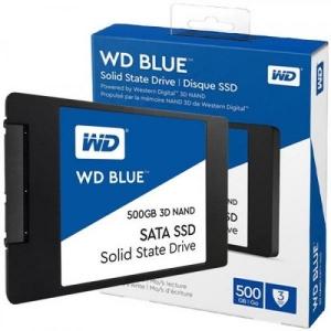 SSD SATA 500GB Western Digital Blue 3D NAND, lugemine 560 MB/s, kirjutamine 530 MB/s, uus, garantii 3 aastat