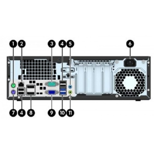 HP EliteDesk 800 G1 SFF i5-4570S@3,6GHz (6MB cache)/8GB DDR3/120GB SSD/ WIFI/2 x DisplayPort/VGA-väljund/Windows 10, kasutatud, garantii 1 aasta [LAN pesa ei tööta] | Soodushind!