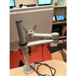 Monitori käsi (monitor arm), lauaservale kinnitatav, reguleeritav kõrgus, kaugus ja monitori nurk, VESA 75 & 100 kinnitus / kasutatud, garantii 6 kuud