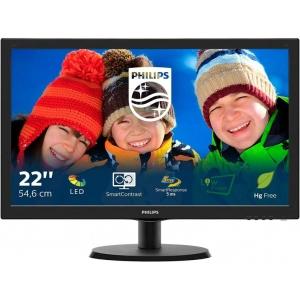 """22"""" Wide LED Philips 223V5LSB, VGA ja DVI-sisend, resolutsioon 1920x1080, kasutatud, garantii 1 aasta"""