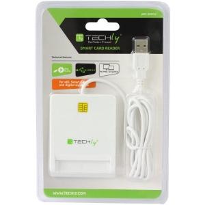 ID kaardi lugeja Techly, USB, valge, uus, garantii 2 aastat