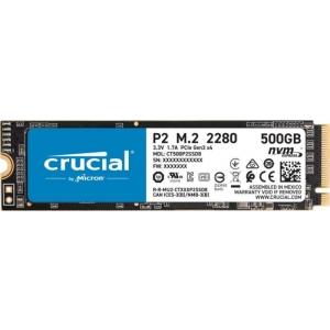 SSD M.2 NVME 500GB Crucial, kirjutamine 940 MB/s, lugemine 2300 MB/s, uus, garantii 5 aastat