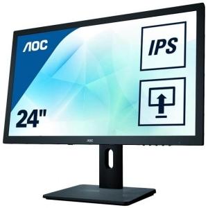 """24"""" Wide LED AOC I2475PXQU, IPS-paneel, HDMI, DisplayPort, VGA & DVI-sisend, USB-hub, PIVOT, resolutsioon 1920x1080, reguleeritava kõrgusega jalg, kõlarid, kasutatud, garantii 1 aasta [ekraanil mõni surnud pixel/kriim]"""