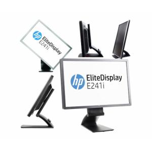 """24"""" Wide LED HP E241i, IPS-paneel, VGA & DVI-sisend, Display-port, USB-hub, PIVOT, resolutsioon 1920x1200, reguleeritava kõrgusega jalg, kasutatud, garantii 1 aasta[Ekraanil kriim]"""