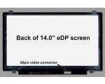 """14,0""""  Slim LED, HD Matt(1366x768), 30 pin LED (eDP), kasutatud, garantii 1 kuu"""
