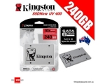 SSD SATA 240GB Kingston UV400, lugemine 550 MB/s, kirjutamine 500 MB/s, uus, garantii 3 aastat