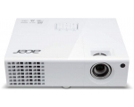Projektor Acer X1373WH, heledus 3000 ANSI luumenit, WXGA resolutsioon 1280x800, HDMI-, VGA- & S-Video sisendid, lamp töötanud maksimaalselt ~2100h, lambi ressurss 6000h (eco-mode), komplektis pult, kasutatud, garantii 6 kuud (ei laiene lambile)