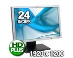 """24"""" Wide LCD HP LP2465, 2 DVI-sisendit, resolutsioon 1920x1200, 6 ms, reguleeritava kõrgusega jalg, PIVOT, USB-HUB, garantii 1 aasta"""
