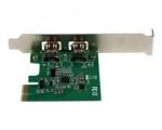 2 pesaga FireWire 400 (1394a) PCI Express FireWire kaart, low profile/Garantii 6 kuud