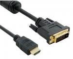 Videokaabel HDMI (arvuti) > DVI (monitor)/Version 2.0/3 meetrit, uus
