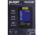 SSD SATA 120Gb Burst Patriot, lugemine 560MB/S, kirjutamine 540MB/S, uus, garantii 3 aastat