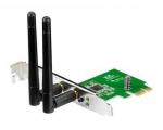 WIFI võrgukaart PCI-E Asus PCE-N15, 300Mbps, 802.11 n, kaasas kinnituspaneel madala korpuse (SFF, desktop) jaoks, uus, 2 välise antenniga, garantii 3 aastat