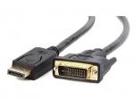 Displayport to DVI kaabel/1 m/(suund DisplayPort arvuti > DVI monitor)/Uus
