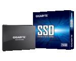 """GIGABYTE SATA 2.5"""" 256GB SSD, kirjutamiskiirus 420 MB/s, lugemiskiirus 500 MB/s, uus, garantii 3 aastat"""