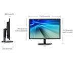 """24"""" WIDE LED Samsung SyncMaster S24B420, VGA- & DVI-sisendid, 5 ms, Resolutsioon 1920 x 1200, reguleeritava kõrgusega jalg, PIVOT, kasutatud, garantii 1 aasta"""