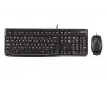 Klaviatuur & hiir Logitech MK120, juhtmetega, VENE-laotusega, uus, garantii 1 aasta