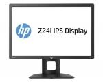 """24"""" Wide LED HP Z Display Z24i IPS, DVI, VGA, Displayport, USB-Hub, PIVOT, resolutsioon 1920x1200, reguleeritava kõrgusega jalg, kasutatud, garantii 1 aasta, jalal defekt[Kriimud ekraanil vt pilte]"""