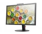 """24"""" Wide LED Lenovo ThinkVision T2424za, FHD veebikaamera, resolutsioon 1920x1200, reageerimiskiirus 4 ms, HDMI-, DisplayPort & VGA-sisend, IPS-paneel, reguleeritava kõrgusega jalg, PIVOT-funktsioon, garantii 1 aasta"""