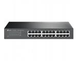 TP-Link switch TL-SG1024D, 24-port, 24x10/100/1000Mbps N-way, unmanaged, metall korpusega, desktop, garantii 6 kuud.