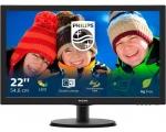 """22"""" Wide LCD LED Philips 223V5LSB, VGA ja DVI-sisend, resolutsioon 1920x1080, kasutatud,ekraanil laigud, garantii 1 aasta"""