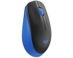 Juhtmevaba hiir Logitech M190, sinine, USB, väikese nano-vastuvõtjaga, uus, garantii 3 aastat