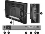 """22"""" Wide LCD HP LP2275W, DVI- & DisplayPort sisend, PIVOT, resolutsioon 1680x1050, reguleeritava kõrgusega jalg, USB-HUB (4 porti), kasutatud, garantii 1 aasta"""